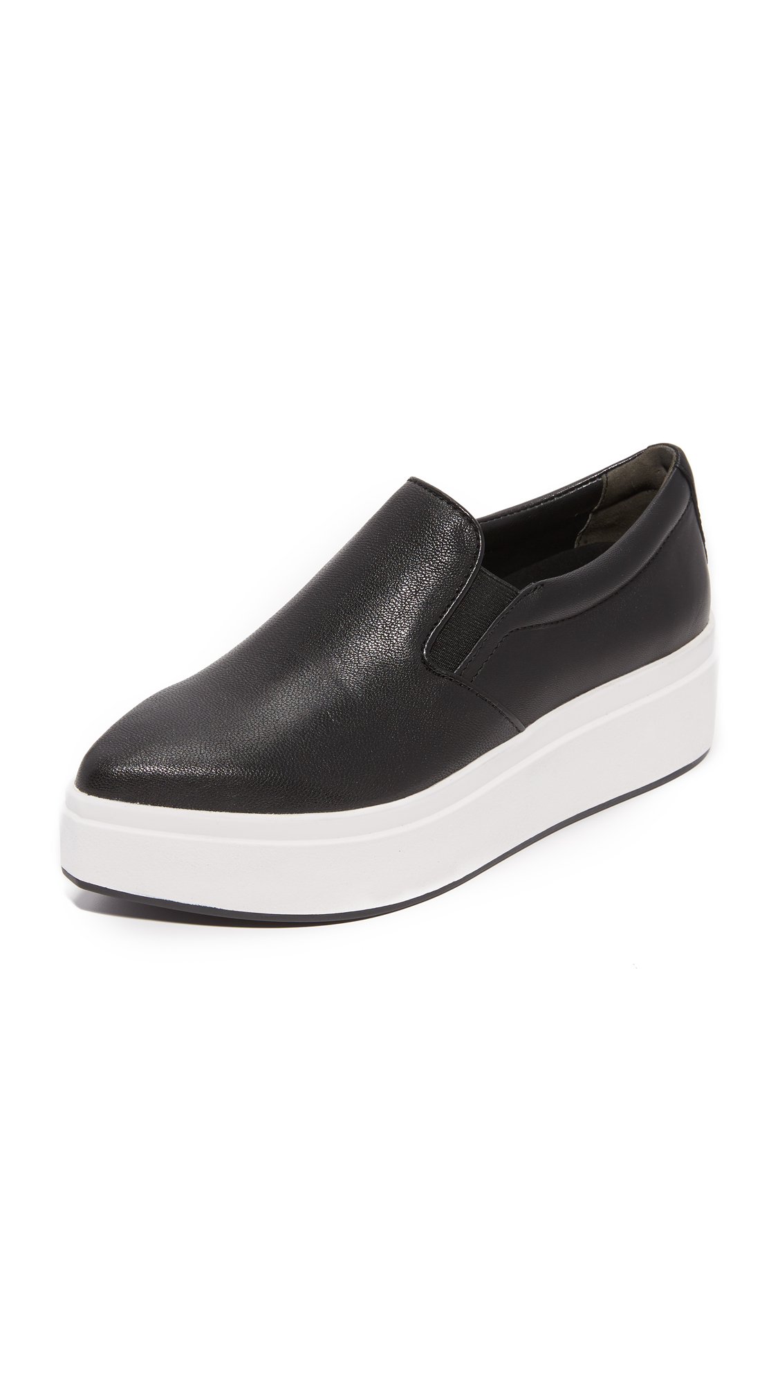 Dkny Trey Platform Slip On Sneakers - Black at Shopbop