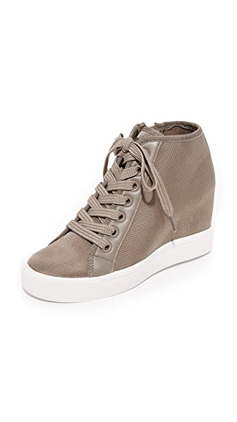 DKNY Cindy Wedge Sneakers - Clay
