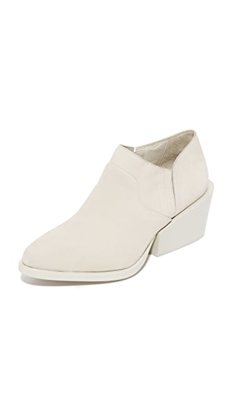 DKNY Lynn Low Cut Wedge Booties - Sand