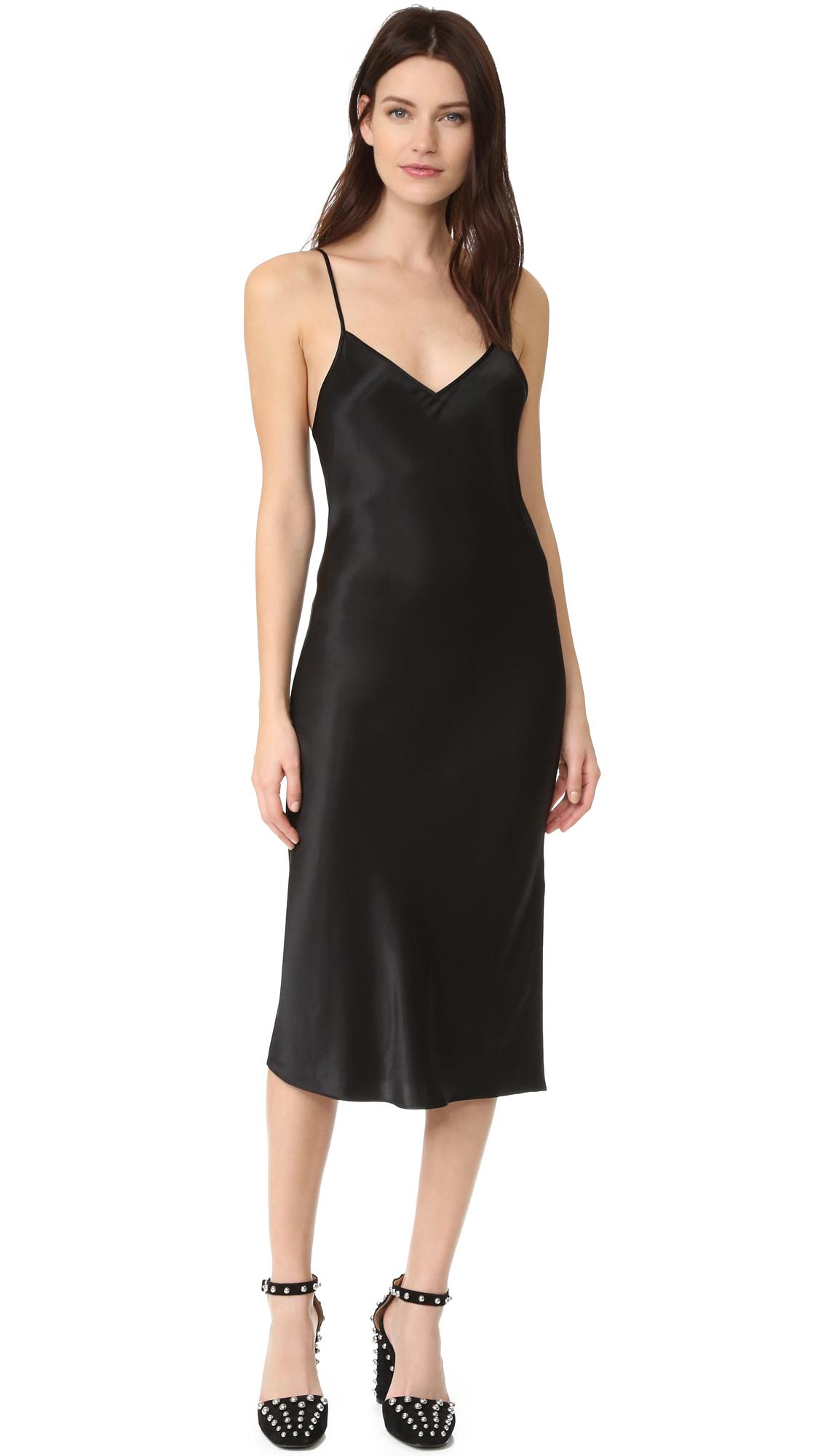 Dkny Sleeveless Slip Dress - Black at Shopbop