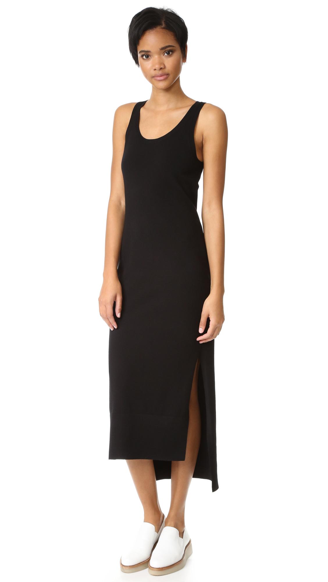 Dkny Sleeveless Dress With Side Slits - Black at Shopbop