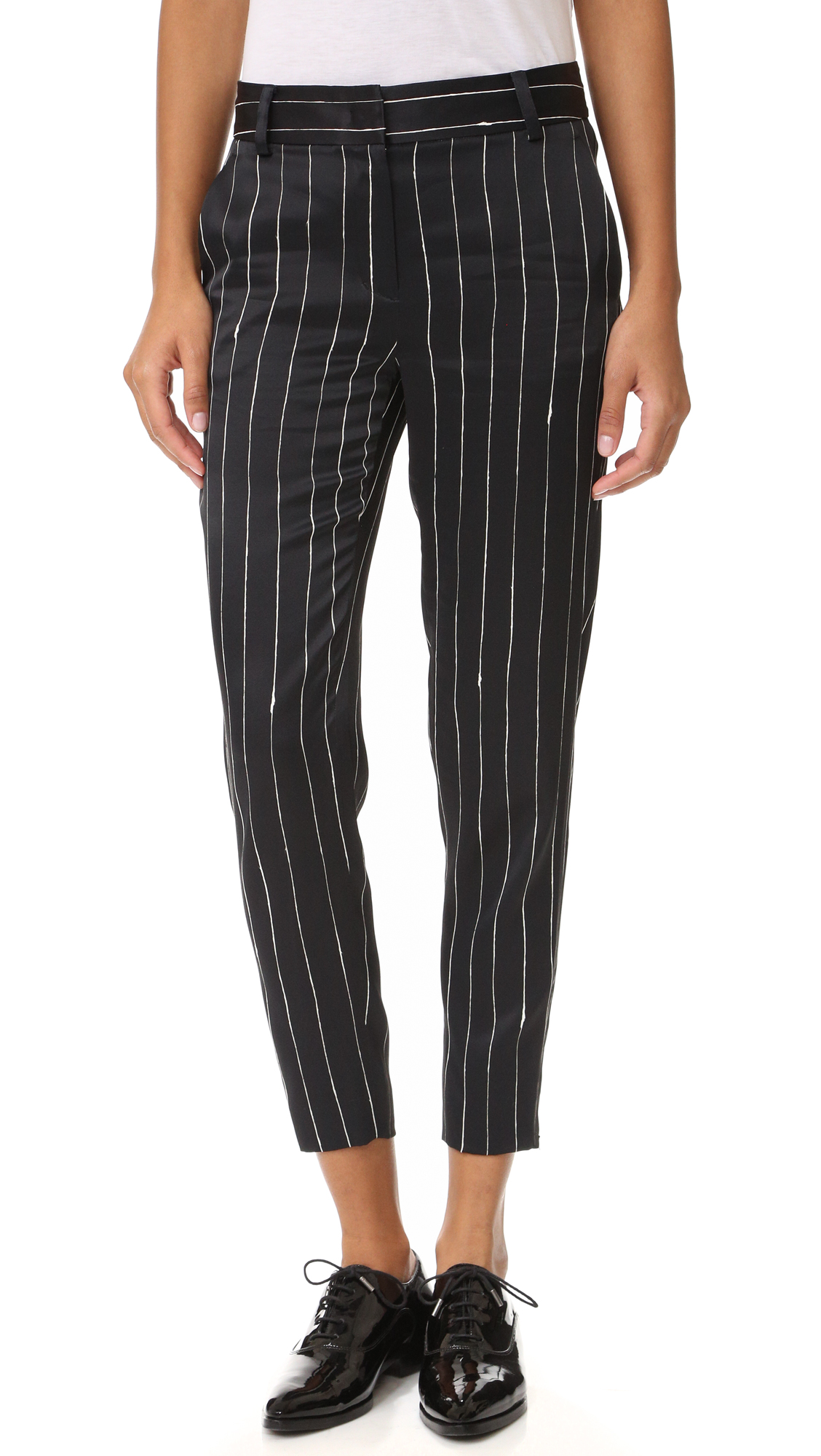 Dkny Tailored Relaxed Pants - Black/Gesso at Shopbop