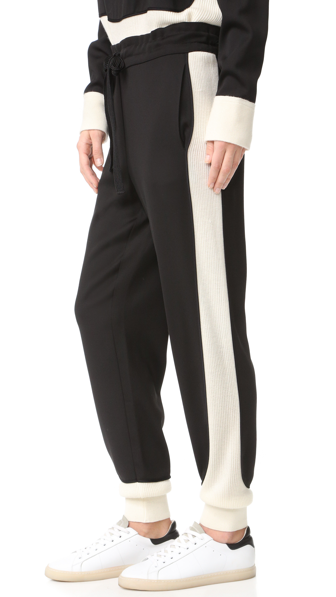 Dkny Pull On Pants - Black/Gesso at Shopbop