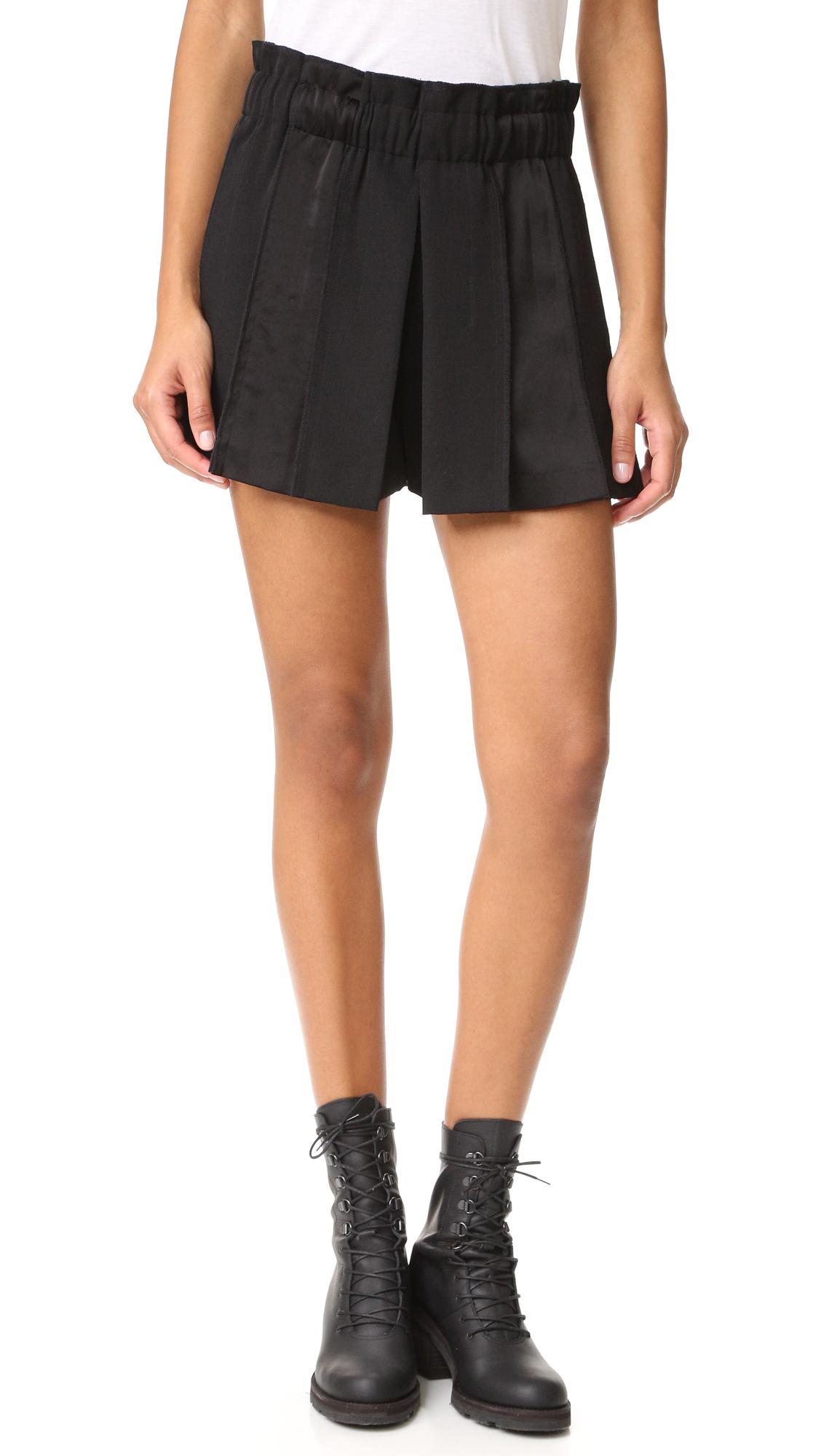 Dkny Pull On Paneled Shorts - Black at Shopbop