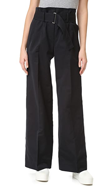 DKNY PURE DKNY Wide Leg Pants with Belt