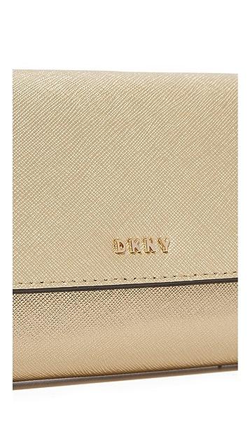 DKNY Bryant Park Metallic Wristlet