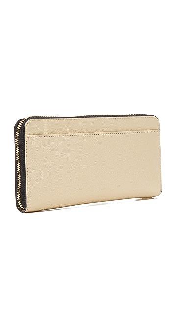 DKNY Bryant Park Metallic Continental Wallet
