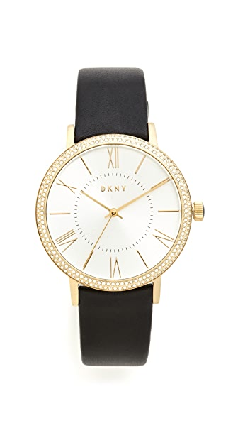 DKNY Willoughby Leather Strap Watch at Shopbop