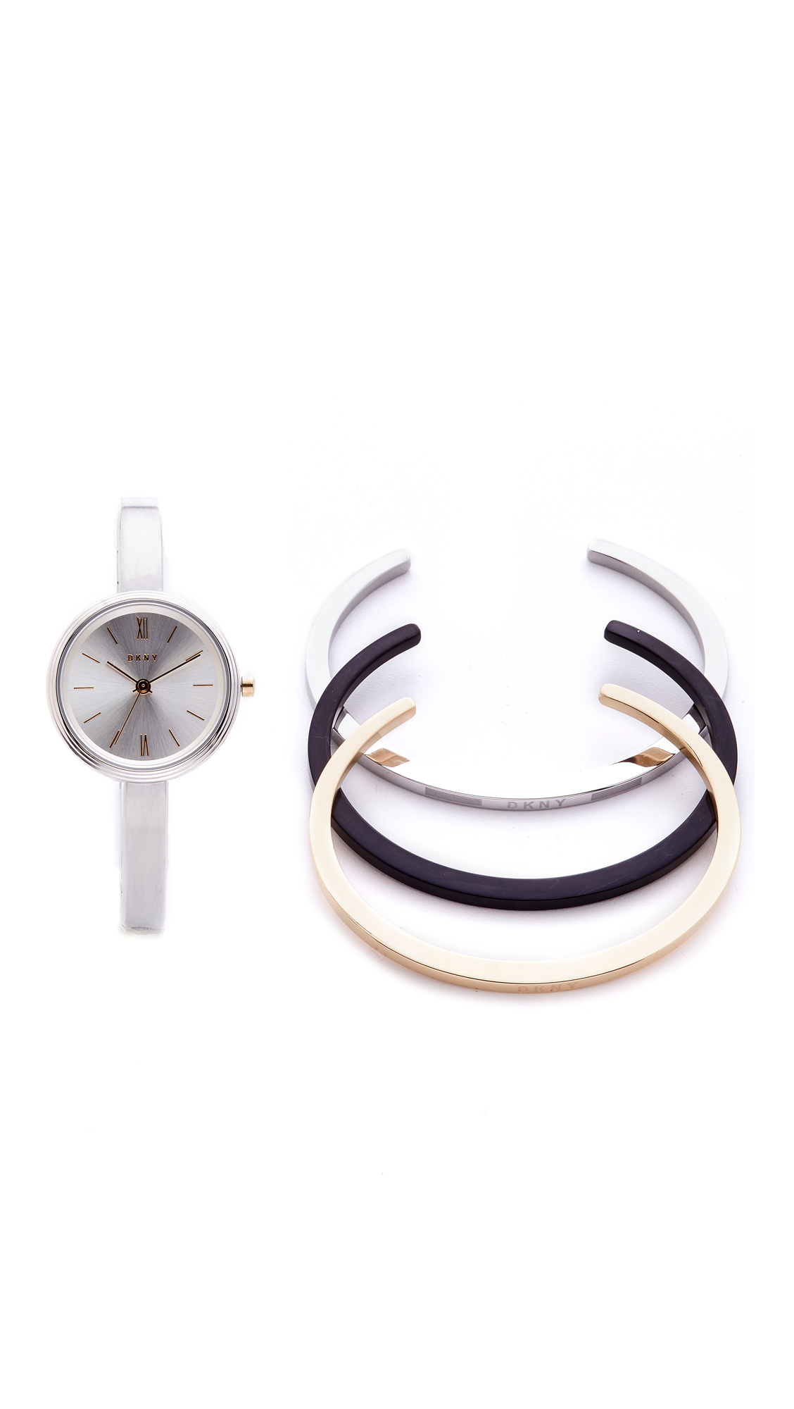 Dkny Watch & Bracelet Gift Set - Stainless Steel/Multi at Shopbop