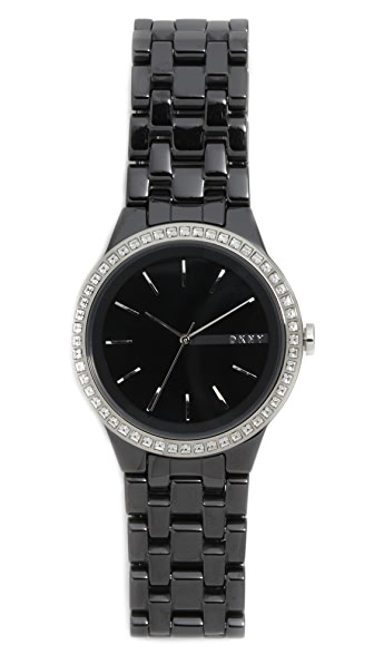 Dkny Park Slope Watch - Black/Stainless Steel at Shopbop