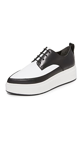 DKNY Trey Platform Oxfords - Black/White