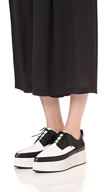 DKNY Trey Platform Oxfords