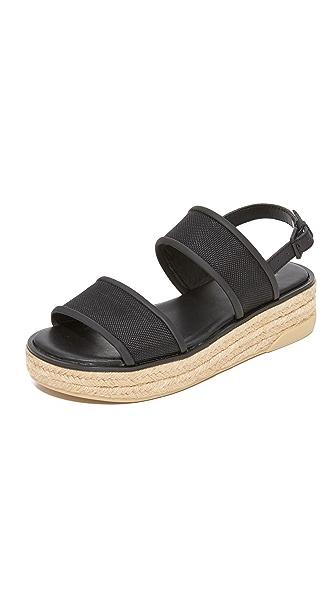 DKNY Shana Slingback Espadrille Sandals - Black