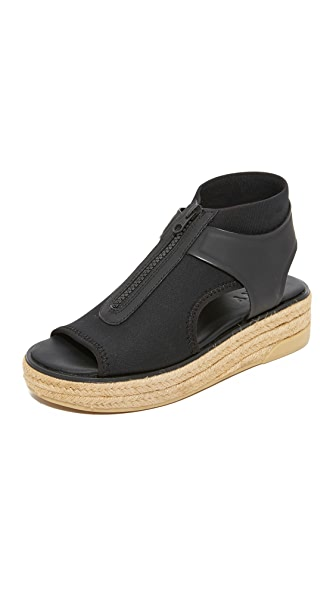 DKNY Suki Espadrille Sandals In Black