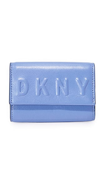 DKNY Debossed Card Case - Cadet