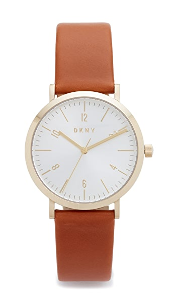 DKNY Minetta Leather Watch
