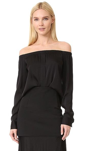 DKNY Long Sleeve Off Shoulder Top at Shopbop