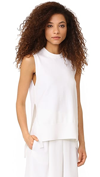 DKNY Sleeveless Sweater In White