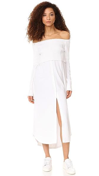 DKNY Long Sleeve Off Shoulder Dress at Shopbop