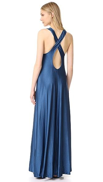 DKNY Макси-платье без рукавов с карманами
