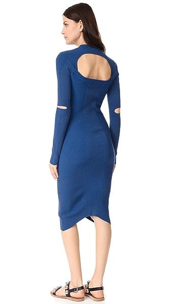Фото DKNY Платье с вырезами на рукавах. Купить с доставкой