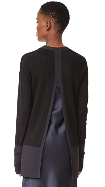 DKNY Cardigan with Slit Back at Shopbop