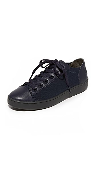 DKNY Brayden Stretch Classic Court Sneakers - Navy