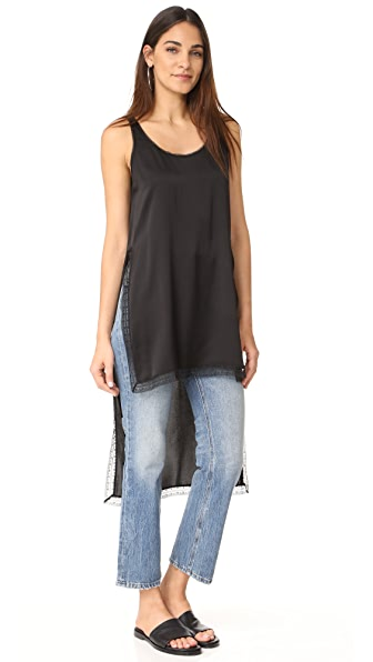 DKNY Shirt with Lace Trim - Black