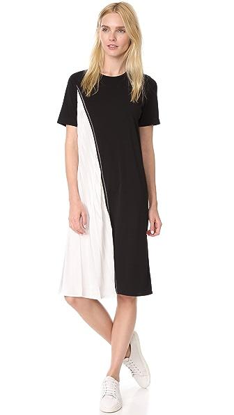DKNY Dress with Pleats - Black/White