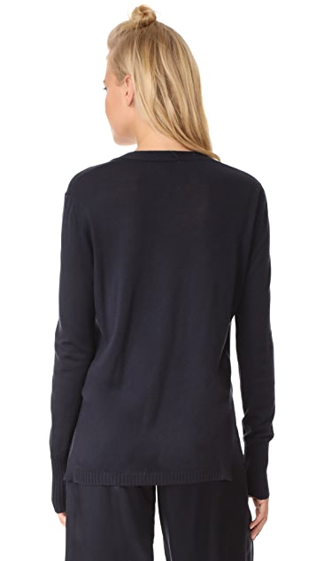 DKNY Sweater with Side Slits