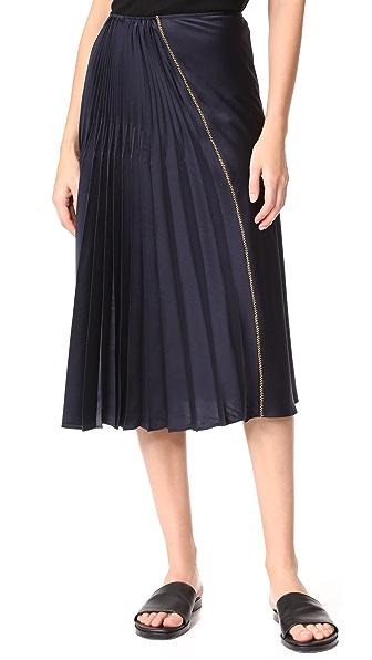 DKNY Skirt with Asym Pleats