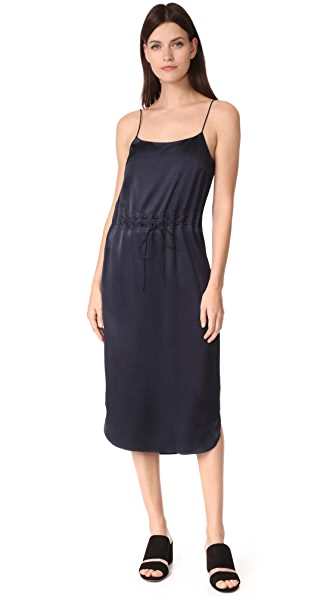 DKNY Sleeveless Dress with Grommets - Classic Navy