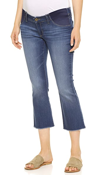DL1961 Lara Maternity Cropped Flare Jeans | 15% off first app ...
