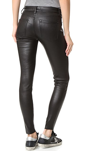DL1961 Jessica Alba No.3 Instasculpt Skinny Leather Pants