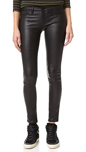 DL1961 Emma Power Legging Leather & Coated Jeans - Poseidon