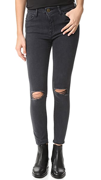DL1961 Farrow Cropped Instaslim High Rise Jeans