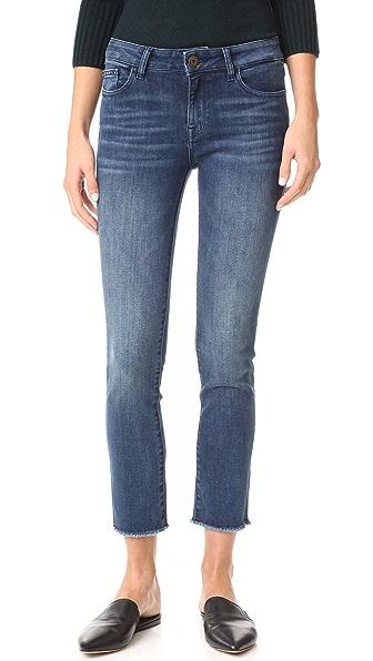 DL1961 Mara Instasculpt Straight Cropped Jeans - Alias