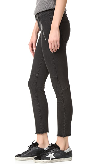DL1961 Jessica Alba No. 4 Instasculpt Cropped Moto Jeans