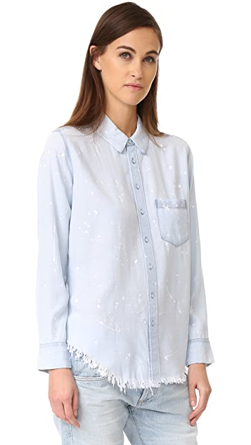 DL1961 Nassau & Manhattan Acid Wash Shirt