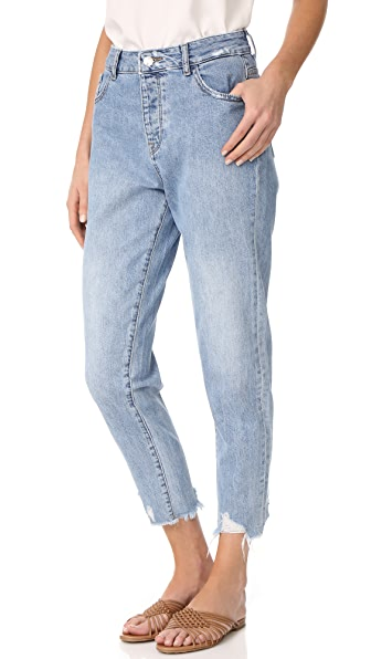 DL1961 Goldie High Rise Tapered Jeans - Plunge