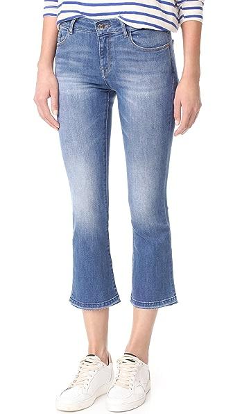DL1961 Lara Instasculpt Cropped Flare Jeans - Crown