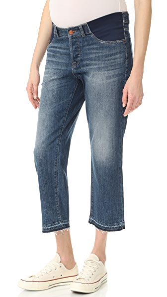 DL1961 Patti High Rise Straight Maternity Jeans - Staggered