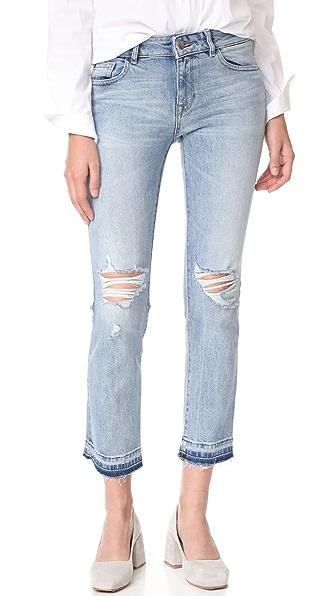 DL1961 Mara Instasculpt Straight Ankle Jeans - Glacier