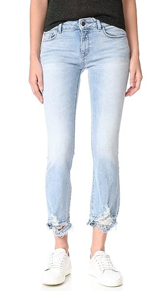 DL1961 Lara Instasculpt Cropped Flare Jeans - Glacier