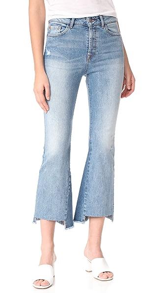 DL1961 Jackie Trimtone Cropped Flare Jeans - Evolution