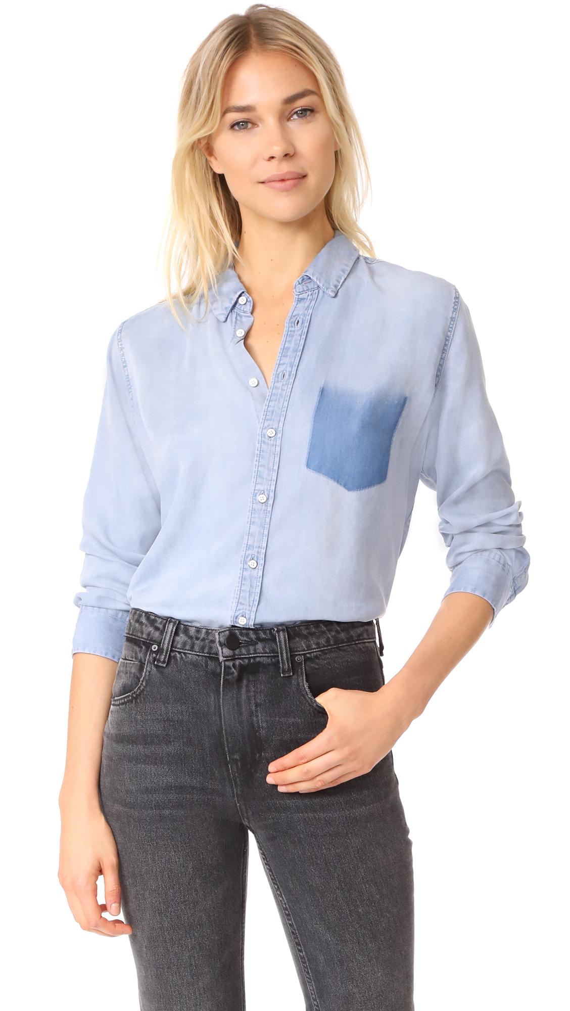 DL1961 Nassau & Manhattan Boyfriend Shirt