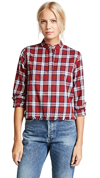 DL1961 W 3rd & Sullivan Long Sleeve Shirt In Red Plaid