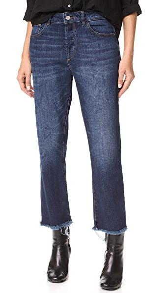DL1961 Patti Sulton High Rise Straight Jeans - Wonderwall