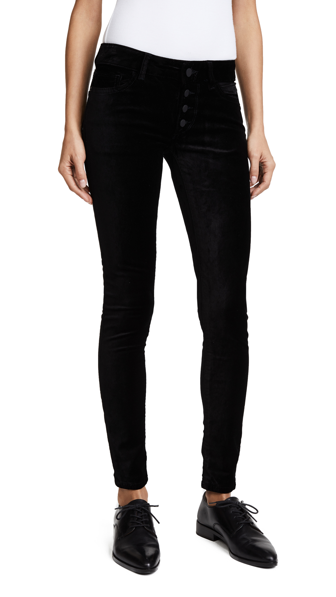 DL1961 Velvet Emma Power Legging Jeans In Jet Black