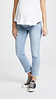 DL1961 Прямые джинсы для беременных до щиколоток Mara Instasculpt